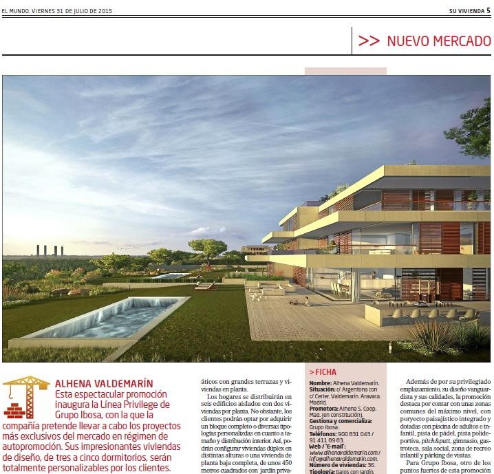 Grupo IBOSA lanza el primer proyecto Línea Privilege en Valdemarín, Aravaca.