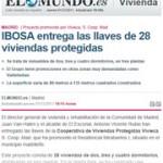 Ibosa entrega las llaves de 28 viviendas protegidas